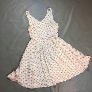 Anthropologie Orange and Cream Silk Dress
